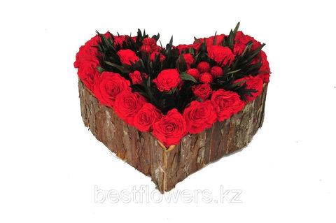 Большое сердце 22x22x12 cm ярко розовый