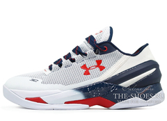 Кроссовки Мужские Under Armour Curry Two Low Grey White Red