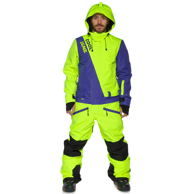 Сноубордический комбинезон COOL ZONE SNOWBOARD мужской салатовый-синий 81bf4b8a4eb