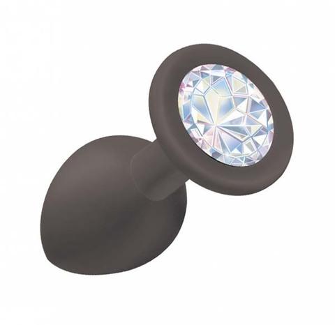 Анальная пробка Emotions Cutie Small Black moonstone crystal (2,7 х 7 см)