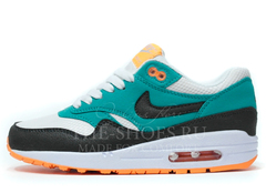 Кроссовки Женские Nike Air Max 87 Green White Black Orange
