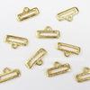 Концевик для плоского шнура TierraCast (цвет-золото) 19х10 мм