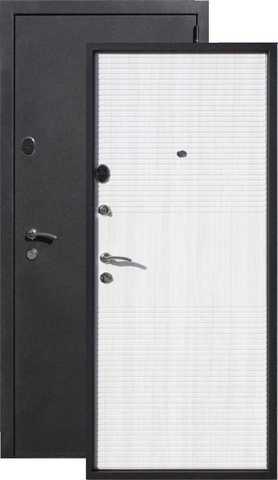 Дверь входная Гарда Муар 7, 5 см , 2 замка, 1,5 мм  металл, (чёрный муар+дуб сонома)