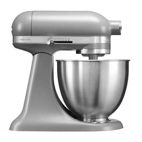 Металлический планетарный миксер KitchenAid Artisan Mini, матовый серый фото
