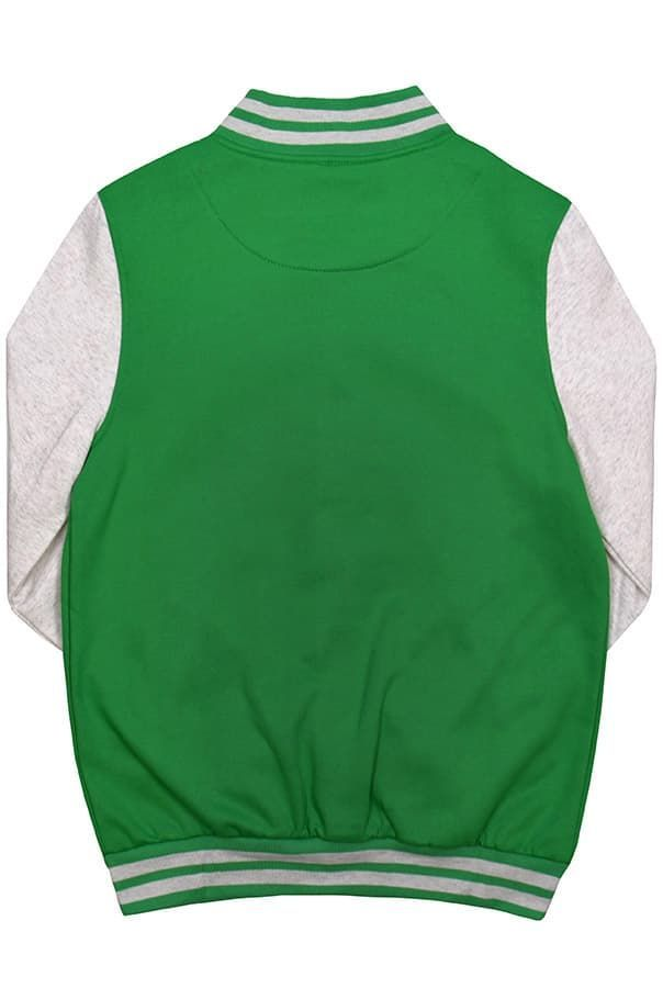Бомбер зеленый фото спина