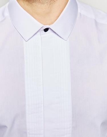 Элегантная рубашка с плиссировкой спереди