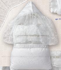 Sdobina. Комплект на выписку для новорожденного с вышитой сеткой