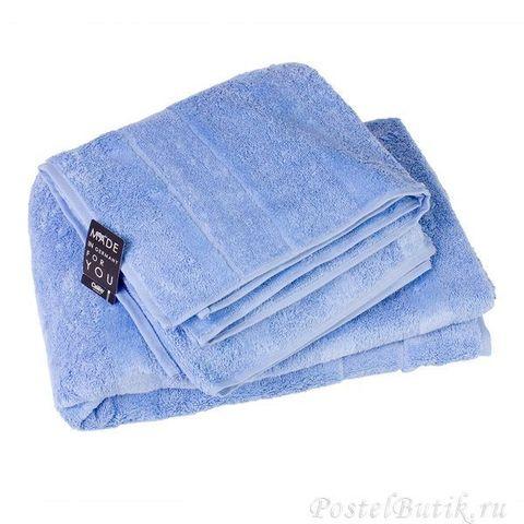 Полотенце 50x100 Cawo Noblesse 1002 голубое