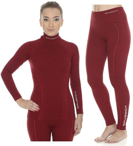 Brubeck Wool Merino женский комплект термобелья красный