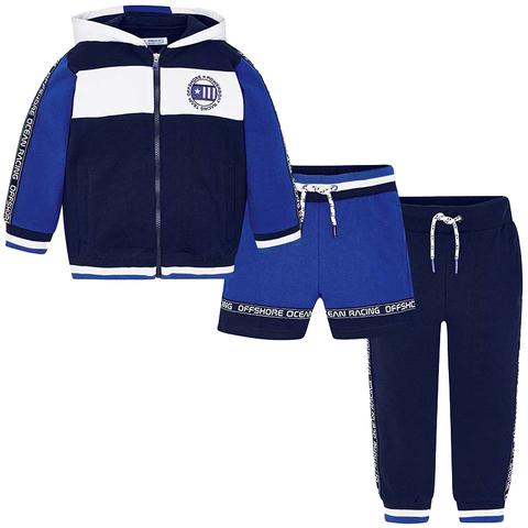 Костюм-тройка Mayoral спортивный синий