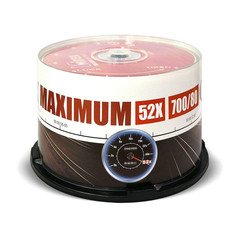 Носители информации Mirex CD-R MAXIMUM 52x cake box 50 (UL120052A8B)