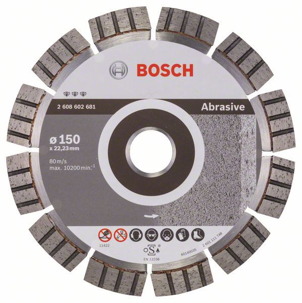 Алмазный диск Best for Abrasive 150-22,23 Bosch 2608602681