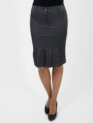 5192-1 юбка серая