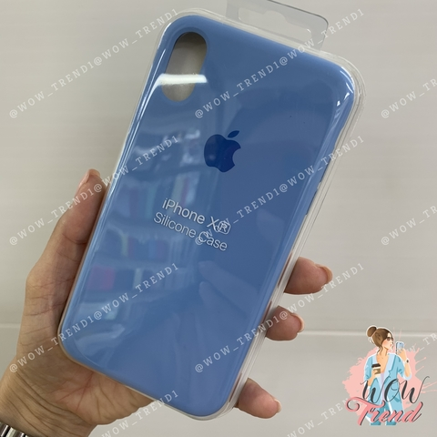 Чехол iPhone XR Silicone Case /cornflower/ синие сумерки original quality