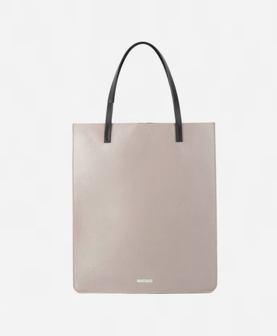 Сумка-шоппер бежевого цвета