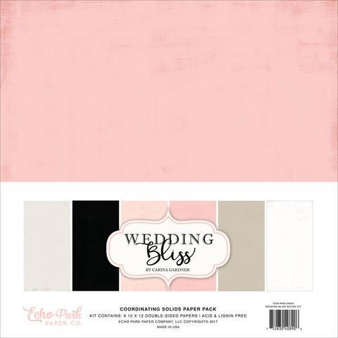 Набор бумаги Echo Park Collection Wedding Bliss- 30х30см.