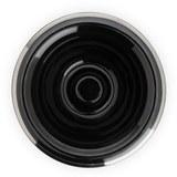 Чаша для бритья MUEHLE, черный фарфор, платиновый обод (RN 16)