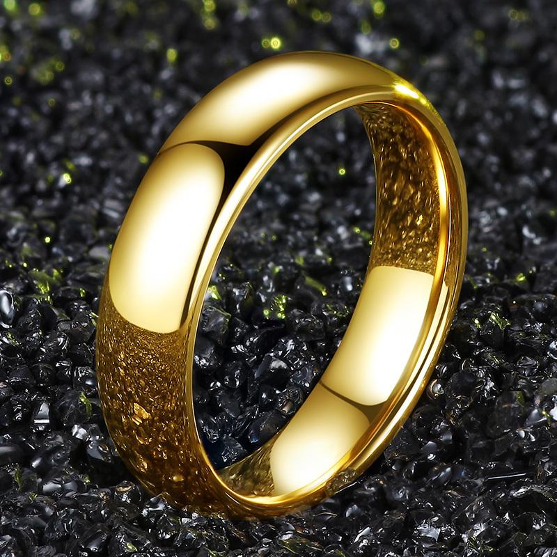 Кольцо классическое женское 15,7 мм размер из восокопрочного вольфрама SPIKES 2203007