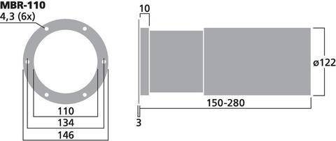 Фазоинвертор MBR-110