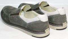 Мужские красивые модные туфли лоферы IKOC 3394-3 Gray.