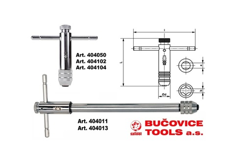 Вороток для метчиков с трещоткой Bucovice(Cztool) R3 M5-M12 L=295мм 404013
