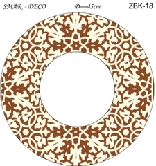Эскиз для росписи, Зеркало диаметр-45см, SMAR-ZBK-18