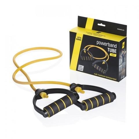 Эспандер с ручками POWERBANDS TUBE (легкое сопротивление, желтый)