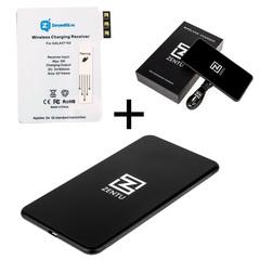 Комплект для Samsung Galaxy Note3: беспроводная зарядка Zentu S7 black + приемник-ресивер Qi