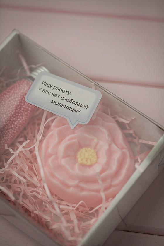 Наклейка на коробку с мылом Говорящее мыло