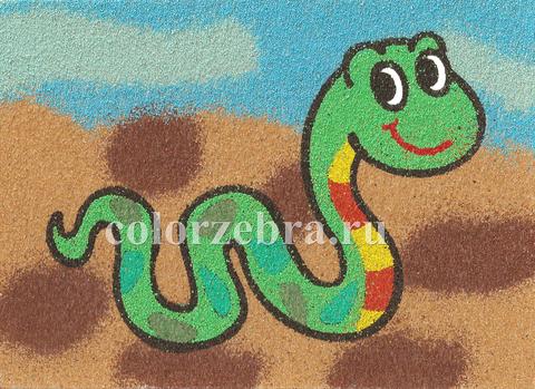 Песочный трафарет Змея а4