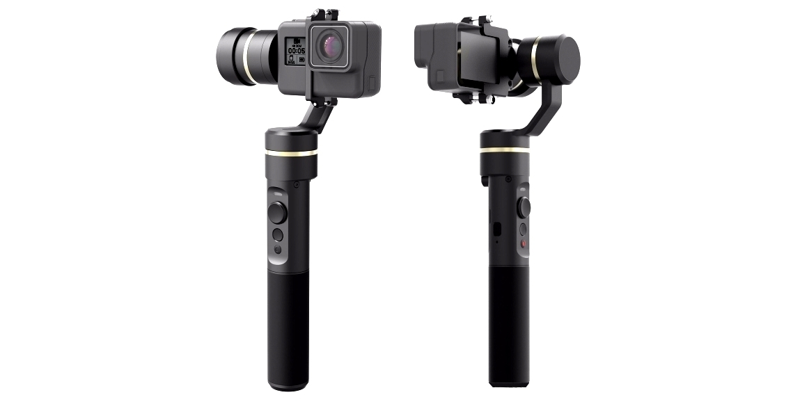 Трехосевой стабилизатор-монопод G5 3-Axis Handheld Gimbal с камерой спереди и сзади