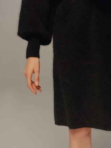 Женское платье черного цвета из ангоры - фото 4