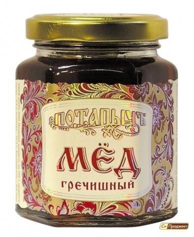 "Мёд натуральный ""Потапычъ"" гречишный 250г ГОСТ"