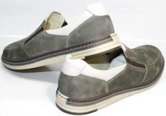 Мужские мокасины кожаные IKOC 3394-3 Gray.