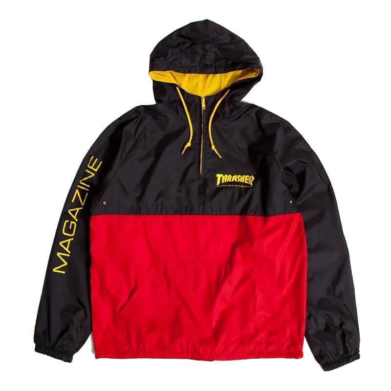 Куртка (анорак) THRASHER Mag Logo Anorak (Black/Red)
