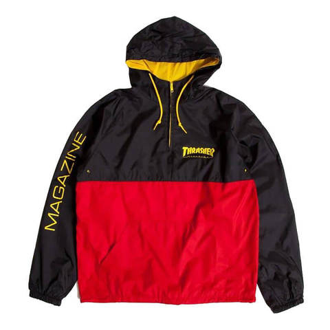 Куртка (анорак) THRASHER Mag Logo Anorak (Black/Red)