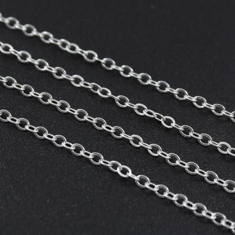 Цепочка овальное звено 1,7 мм серебро 925 цена за 20 см