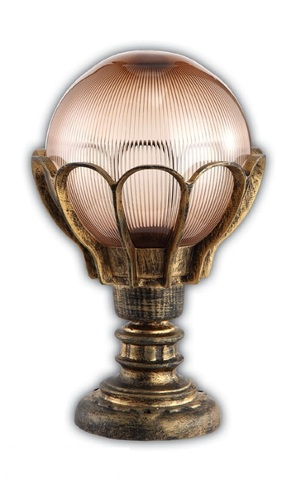 Светильник садово-парковый, 60W 220V E27 черное золото , IP44 , PL5044 (Feron)