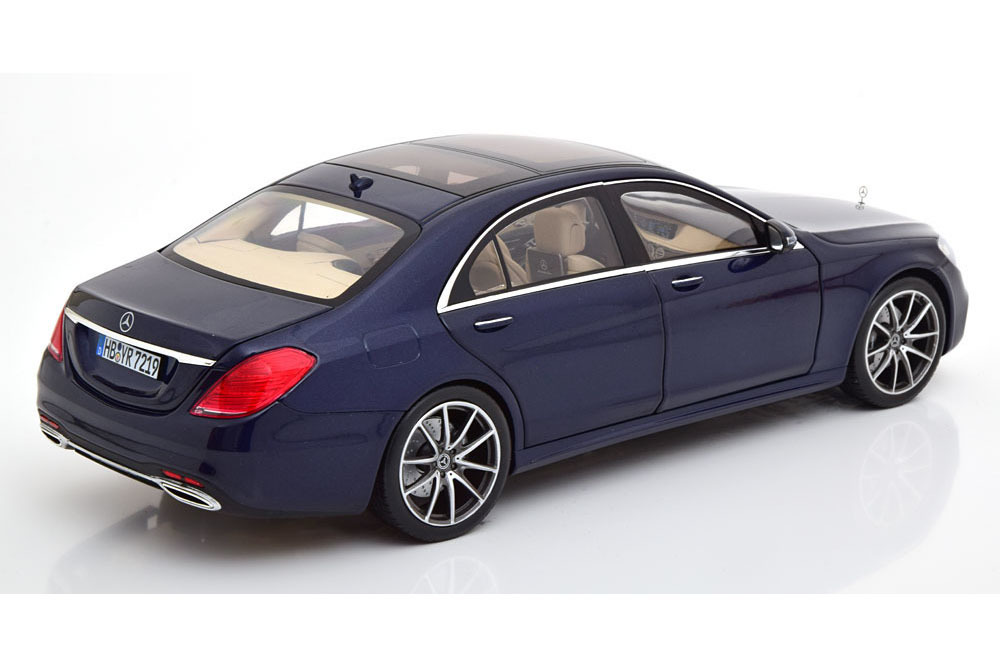 Коллекционная модель Mercedes-Benz W222 S-CLASS AMG-LINE 2019 DARK BLUE METALLIC