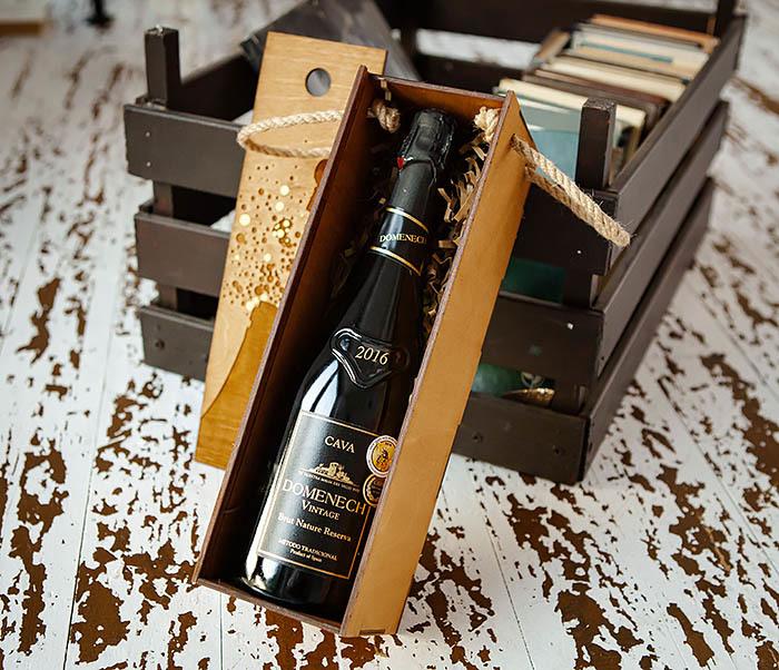 BOX240 Подарочная коробка для шампанского (33*10*10,5 см) фото 04