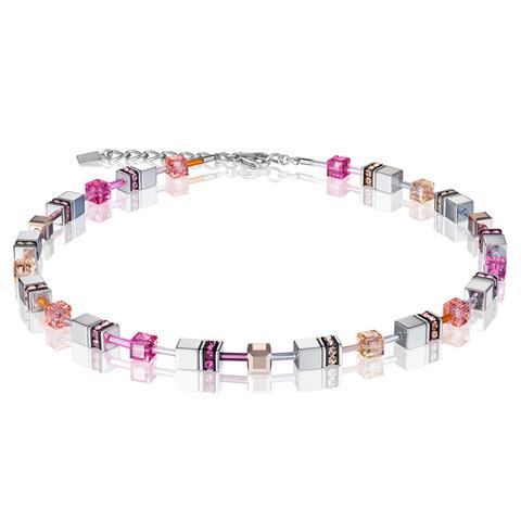Колье Coeur de Lion 4015/10-0227 цвет серый, розовый, серебряный