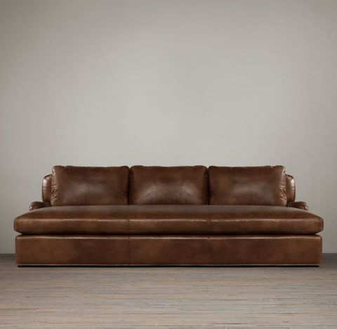 Belgian Classic Roll Arm Leather Daybed