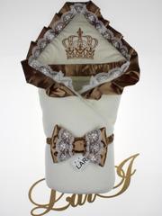 Зимний набор на выписку из роддома Очарование - 3 предмета (кремовый\капучино)