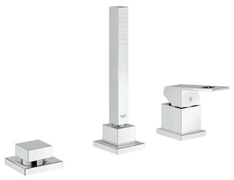 Eurocube Смеситель однорычажный для ванны на три отверстия
