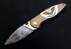 Cheburkov Toucan Skull FULL Custom Damascus