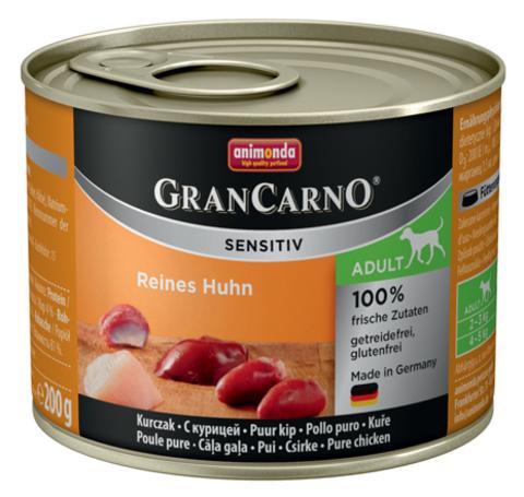 Консервы Animonda Gran Carno Sensitiv c курицей для собак с чувствительным пищеварением