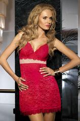 Сорочка женская с кружевом  MIA-MIA Elegance ЭЛЕГАНС Леди в красном 12020