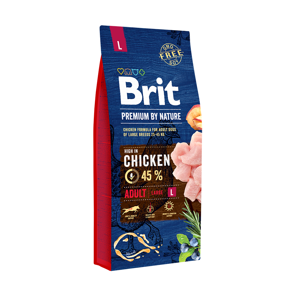 Каталог Корм для собак крупных пород, Brit Premium by Nature Adult L 69991.png