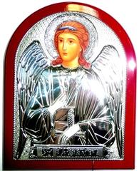 Икона Ангела Хранителя в серебряном окладе 16х12см