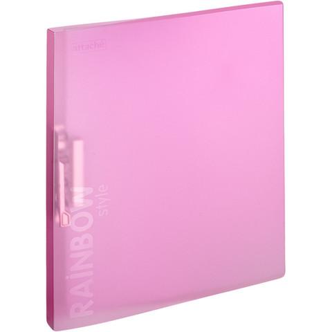 Папка с зажимом Attache Rainbow Style розовый
